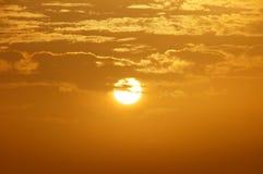 A beautiful orange sunset background Stock Photos
