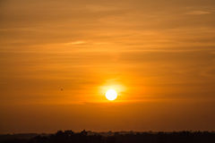 Beautiful orange sunset Royalty Free Stock Photos