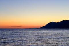 Beautiful orange sunset in Croatia. Stock Photography