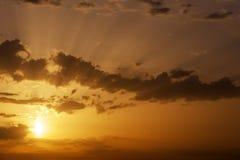 Beautiful orange sunset sky Royalty Free Stock Images