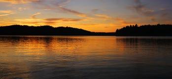 Beautiful sunset on lake Stock Photo