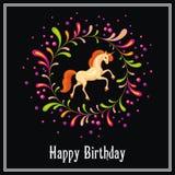 Beautiful orange unicorn Royalty Free Stock Images