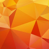 Beautiful orange yellow triangular background Royalty Free Stock Images