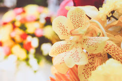 Beautiful orchid flower in a bouquet Royalty Free Stock Image