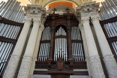Beautiful Organ at the Art Museum in Barcelona. Photo of organ at the national art museum of catalunya in barcelona spain stock photography