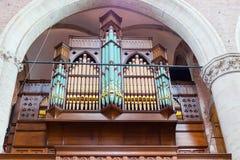 Beautiful organ in the church Stock Image