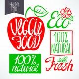 Beautiful organic titles Royalty Free Stock Photos