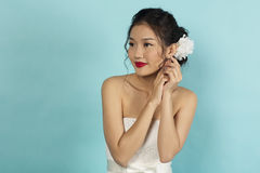 Beautiful Oriental Bride Royalty Free Stock Photography