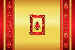 Beautiful oriental Christmas background vector Royalty Free Stock Photography