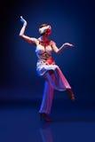 Beautiful oriental dancer Stock Images