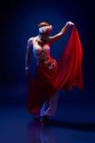 Beautiful oriental dancer Stock Photos
