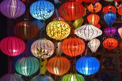 Beautiful oriental lanterns in Vietnam stock photography