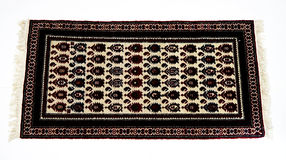 Beautiful Oriental Turkish handmade rugs on white background Stock Photo