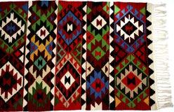 Beautiful Oriental Turkish handmade rugs on white background Stock Image