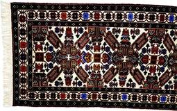 Beautiful Oriental Turkish handmade rugs on white background Royalty Free Stock Image