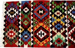 Beautiful Oriental Turkish handmade rugs on white background Royalty Free Stock Photo