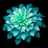 Beautiful origami flower structure Royalty Free Stock Image