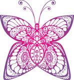 Beautiful original butterfly. Beautiful original tattoo butterfly isolated Vector Illustration