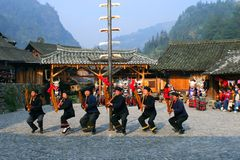 Beautiful original villages in Guizhou, China royalty free stock photo