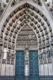 Beautiful ornage door way in Cathedral Cologne Royalty Free Stock Photography