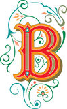 Beautiful ornament, Letter B royalty free illustration