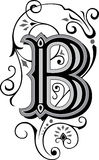 Beautiful ornament, Letter B stock illustration