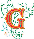 Beautiful ornament, Letter G Stock Photo