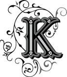 Beautiful ornament, Letter K Stock Image