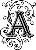 Beautiful ornament, Letter A Stock Image