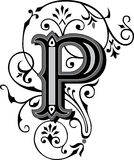 Beautiful ornament, Letter P royalty free illustration