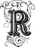 Beautiful ornament, Letter R Stock Image
