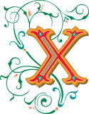 Beautiful ornament, Letter X Stock Image