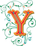 Beautiful ornament, Letter Y Stock Image