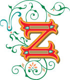Beautiful ornament, Letter Z Royalty Free Stock Images