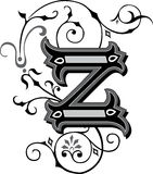 Beautiful ornament, Letter Z Stock Photos