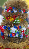 Beautiful ornament from stalks of grain cereals and flowers. Stock Photo