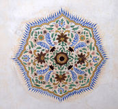 Beautiful ornament on wall of palace in Amber Fort in Jaipur Royalty Free Stock Images