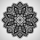 Beautiful ornament on white background. Vector illustration stock illustration