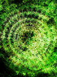 Beautiful ornamental graphic mandala on abstract colorful background. Green color. Stock Image