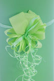 Beautiful ornamental green bow Stock Image