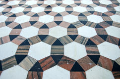 Beautiful ornamental marble floor background in asian temple, India Royalty Free Stock Photography
