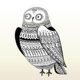Graphic owl stock illustration
