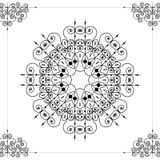 Beautiful ornamental rosette or mandala Royalty Free Stock Images