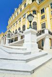 Beautiful ornamental stone steps of Schonbrunn palace Stock Images