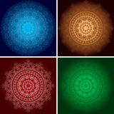 Beautiful vector ornaments on backgrounds with gradient - set Stock Photos