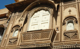 Beautiful ornate balcony of old traditional rajastani house,India Stock Image