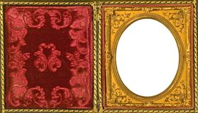Beautiful ornate daguerreotype picture frame Stock Photo