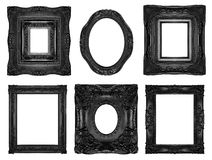 Beautiful ornate frames. Black ornate frames isolated on white Royalty Free Stock Photos