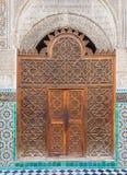 Beautiful ornate oriental doorway. Royalty Free Stock Images