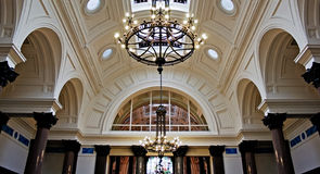 Beautiful ornate plaster ceiling Royalty Free Stock Photography